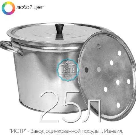 Бак оцинкованный хозяйственный - 25 литров