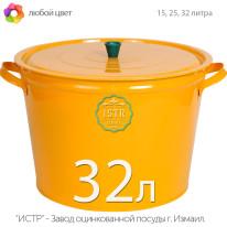 Бак окрашенный оцинкованный хозяйственный  — 32 литра