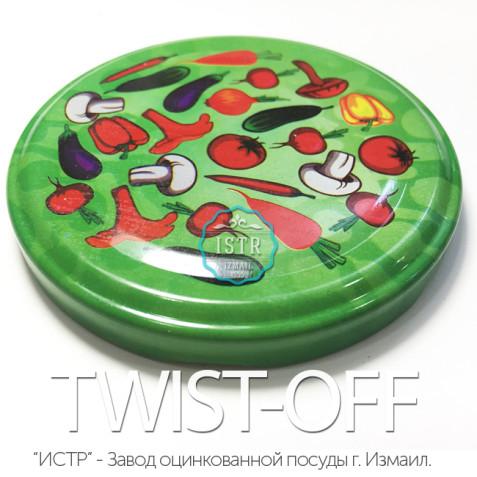 Крышка Твист-Офф — 82 «Полноцветная» (винтовая) TWIST-OFF