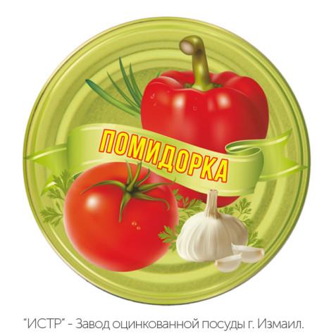 Крышка СКО 1-82 «Помидорка» (49+1) металлическая закаточная для консервирования